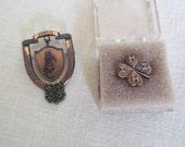Vintage Collectible Copper 4-H Pins