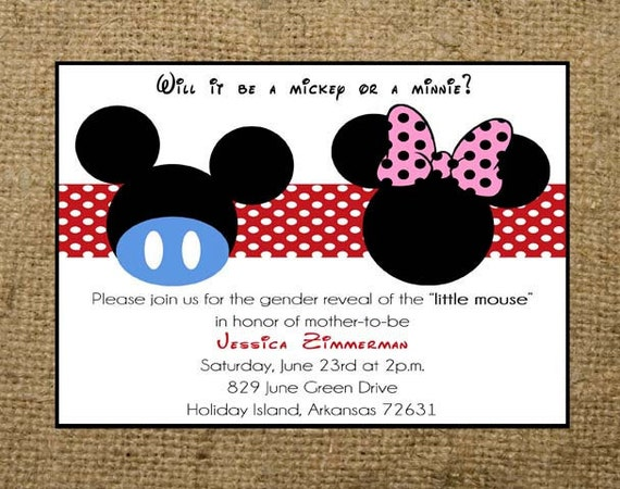Baby Shower Invitations Mickey And Minnie ~ Unavailable listing on etsy