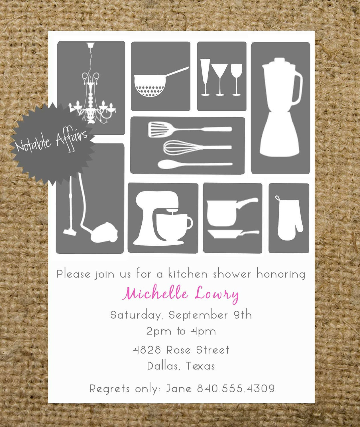 PRINTABLE Bridal Shower Kitchen House Invitation By