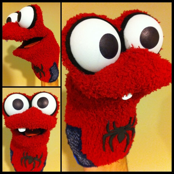 Items Similar To Spiderman Sock Puppet On Etsy