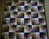 Watercolor Squares Art Quilt ; Impressionistic ; Value Study Quilt ; Watercolor Art ; Quilt Art ; Textile Wall Hanging