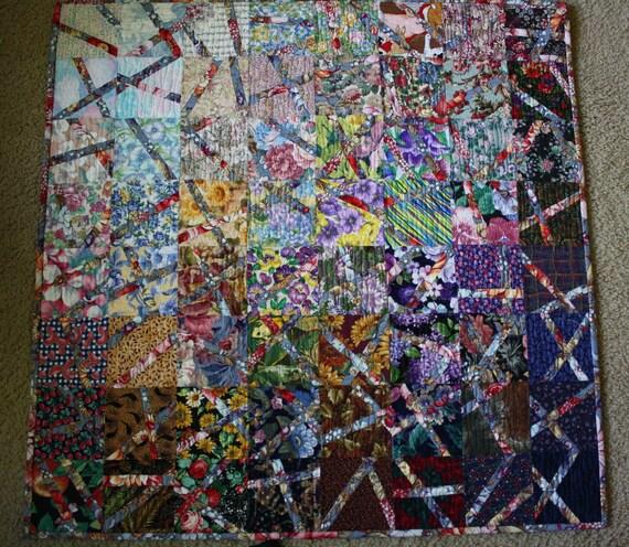 Broken Watercolor Art Quilt (1)