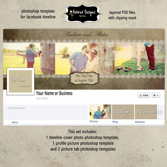 Items Similar To Save The Date Facebook Timeline (Instant