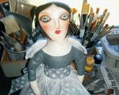 Handmade Angel Folk Art Doll