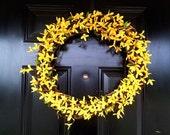 Yellow Forsythia Summer Grapevine Wreath