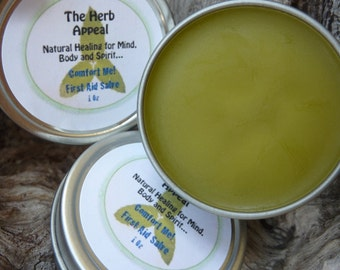 Comfort Me First Aid Salve 1oz For Minor Cuts, Scrapes, Burns, Infections and Irritation