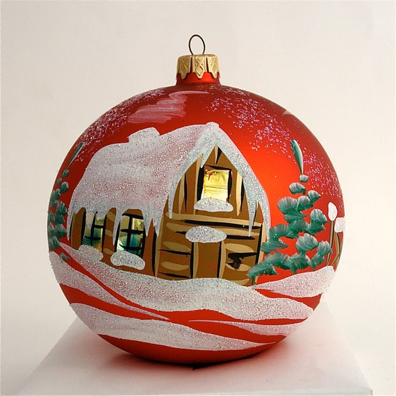Items similar to Hand Painted, Christmas Ornament,Glass ...