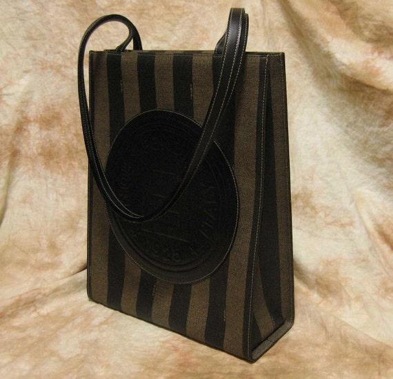 RESERVED//////////  FENDI / Vintage Shopper Tote bag / Pecan Patterned / 100% authentic