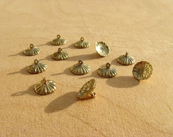 Large Ornament Findings - 12 pieces, gold tone - Goose egg size