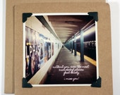 Miss You Card Featuring NYC Subway Photo
