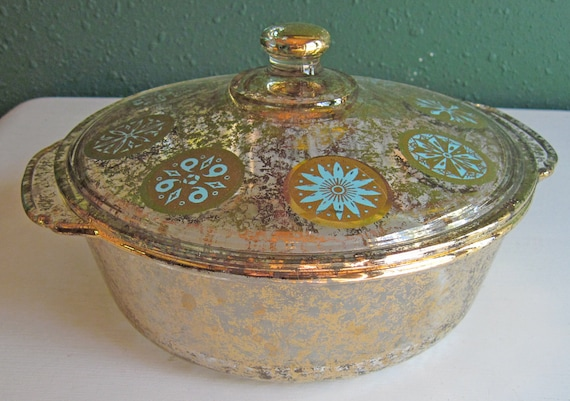 Vintage Fire King 2 Qt Covered Glass By Vintageweddingchina