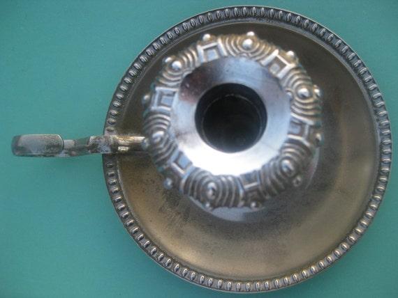 Antique-Vintage silver Chamber stick / Candle stick holder