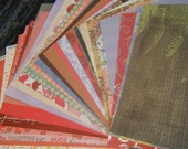 MOVING SALE! Extra 10% off clearance prices! DESTASH One Inch Tall Stack of Patterned Paper Surprise Variety 12x12