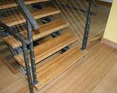 Custom Modern Staircase - Steel & Oak