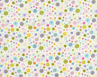 Flutter Dots and Circles Cream - Linda Solovic - Timeless Treasures - 1 Yard
