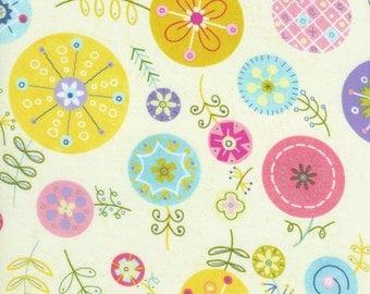 Flutter Lollipop Flowers - Linda Solovic - Timeless Treasures - 1 Yard