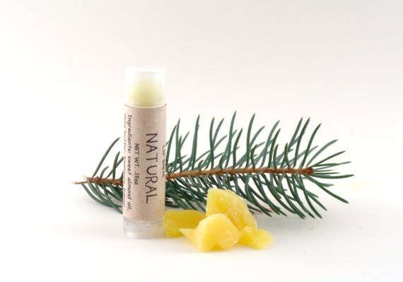 Natural Lip Balm Tube, Made with All Natural Beeswax and Organic Shea Butter, stocking stuffer, unisex gift, eco friendly gift wrapping