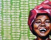 """Art Print, 8""""x10"""", African woman, """"PRECIOUS"""""""