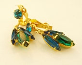 Aqua Juliana Rhinestone Dangle earrings