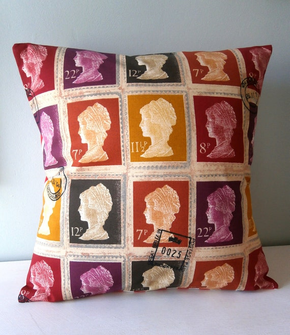 Queen Stamp Cushion / Pillow Penny Royal