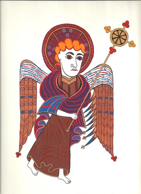 The Angel of Saint Matthew Art Print: Evangelist Series