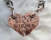 Keychains - Best Bitches Keychains Copper Heart