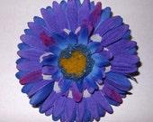 Purple and Blue Hair Flower