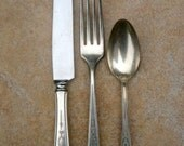 6 Sets of Silver plate from 1921  (knife, fork, spoon)