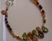 Fall Leaves Beaded Bracelet