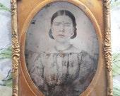 Antique Civil War Era Tin Type Photograph