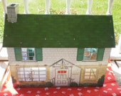 Vintage Toy 1960s Marx Tin Dollhouse