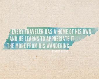 Every Traveler Has a Home 5 x 7