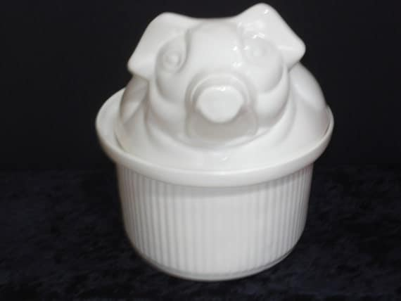 Vintage, 1950s, Country Kitchen, All White, Covered, Casserole, Tureen