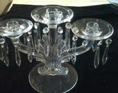 Exquisite Solid Glass Candelabra