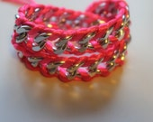 Double wrap chain bracelet