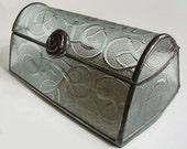 Glass jewelry box - Art nouveau style