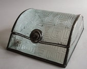 Jewelry box - 50s design glass pattern
