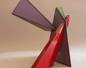 Letter K - Stained glass sculpture
