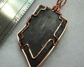 Sugilite Pendant Australia wrapped in copper wire
