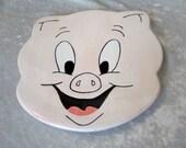 Trivet Porky Pig Ceramic