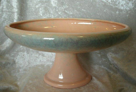 Haeger Agate Glaze Oval Compote