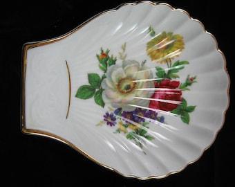 Vintage Shell Dish Bavaria Germany Porcelain Kuba Porzellan, Walkure Bayreuth - Trinkets - Rings - Victorian