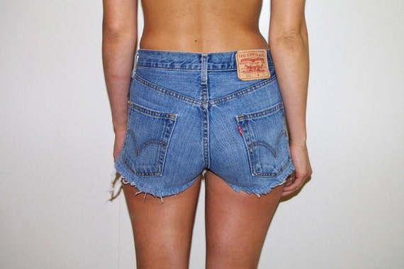 Classic Button Fly Levi's Denim Cut Off Shorts