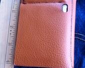 Leather Wallet, Minimalist, Color Collection, Burnt Orange No. 54