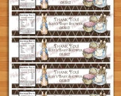 Peter Rabbit Baby Shower Water Bottle Labels For All Occasions