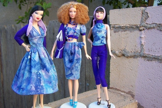 OOAK Twilight Butterfly mix and match wardrobe for model muse Barbie by Woven in Time