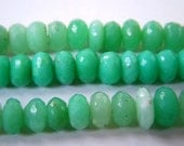 chrysoprase  Rondelle Micro Faceted Beads, 5 to 7 mm