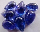 One Pieces of AA Tanzanite Pear shape cabochons 4 TO 5 Carats