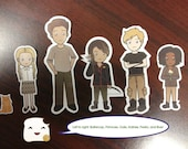 Cute Hunger Games Characters Sticker Set
