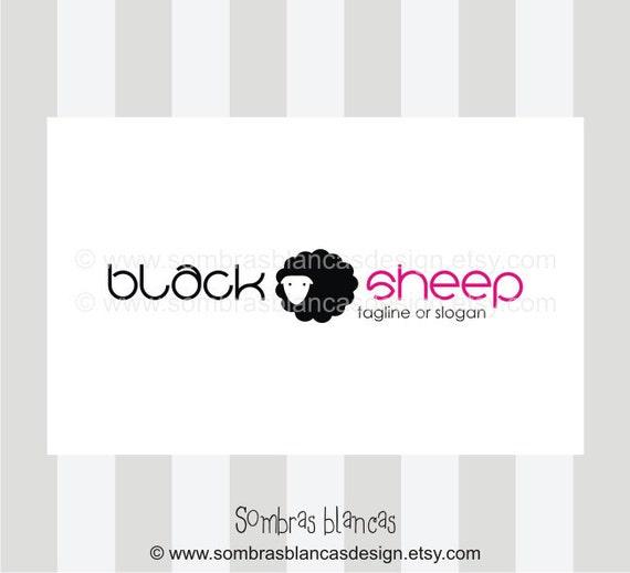 OOAK Premade Logo Design - Black and White Sheep Lamb
